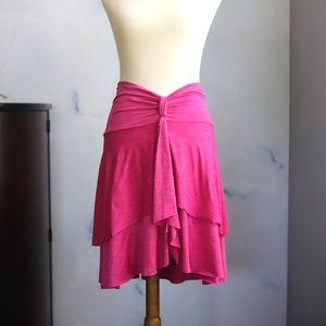Betsey Johnson Swim Cover Up Ruffled Skirt Betsy